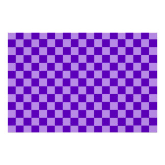 Purple Combination Classic Checkerboard by STaylor Poster