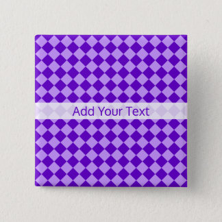 Purple Combination Diamond Pattern by STaylor Button