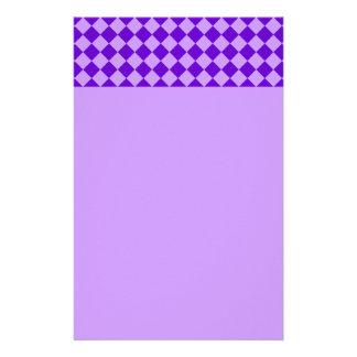 Purple Combination Diamond Pattern by STaylor Stationery