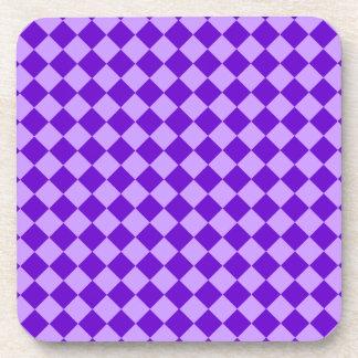 Purple Combination Diamond Pattern Coaster