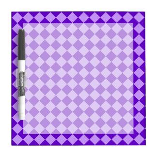 Purple Combination Diamond Pattern Dry Erase Board