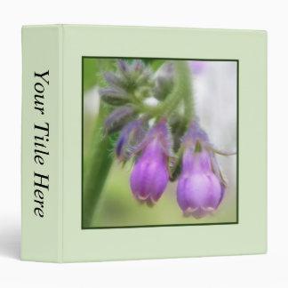 Purple Comfrey Flowers 3 Ring Binder