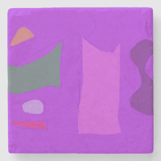 Purple Composition Stone Coaster