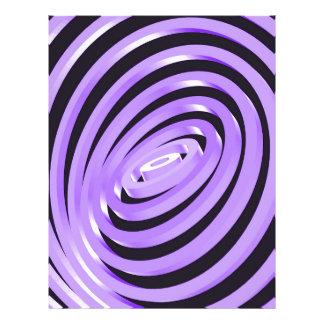 Purple Concentric Rings Letterhead
