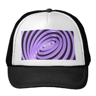 Purple Concentric Rings Trucker Hat