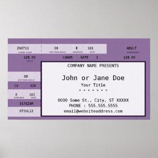 purple concert ticket poster