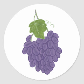 Purple Concord Grape Painting Stickers