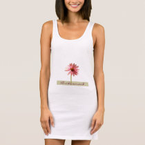 Purple Cone Flower Echinacea purpurea Sleeveless Dress