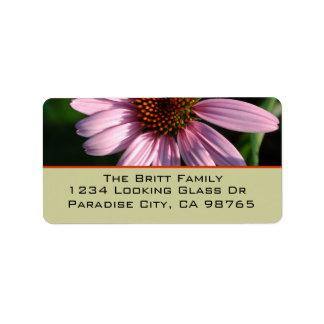 Purple Coneflower Address Label
