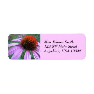 Purple Coneflower Address Labels