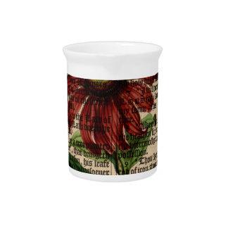 Purple Coneflower Flower Beverage Pitcher