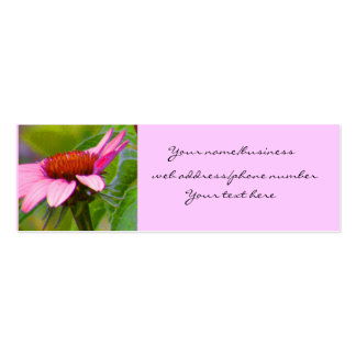 Purple Coneflower Profile Cards Double-Sided Mini Business Cards (Pack Of 20)