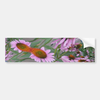 Purple Coneflowers Fractal Dance Bumper Sticker