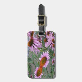 Purple Coneflowers Fractal Dance Luggage Tag