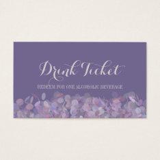 Purple Confetti Drink Ticket at Zazzle