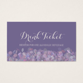 Purple Confetti Drink Ticket