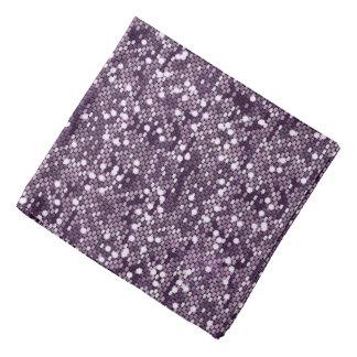 Purple Confetti Glitter Style Print Bandana