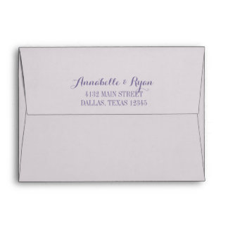 Purple Confetti | Pale Personalized Wedding Envelope