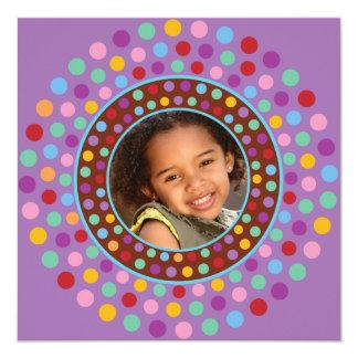 Purple Confetti Party Invitation