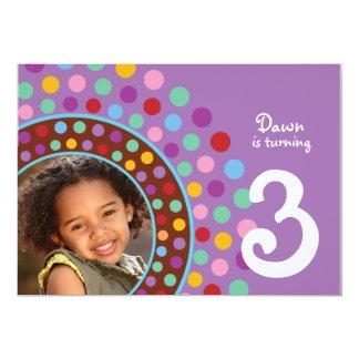 Purple Confetti Party Invitation - B