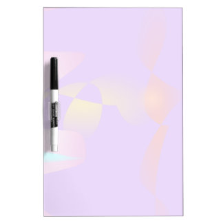 Purple Contrast Abstract Art Dry-Erase Board