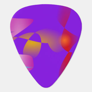 Purple Contrast Abstract Art Guitar Pick
