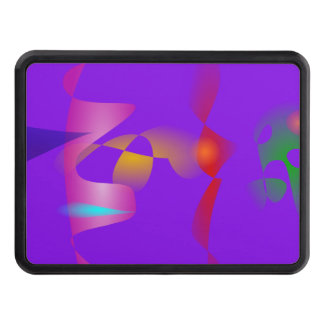 Purple Contrast Abstract Art Tow Hitch Covers