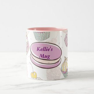 Purple Cookies and Cupcakes Mug
