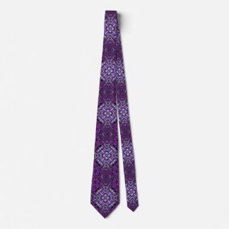 purple cool abstract pattern neck tie