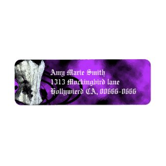 Purple Corset Goth Address Label label