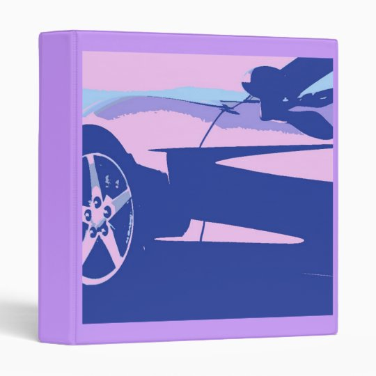 Purple Corvette 3 Ring Binder