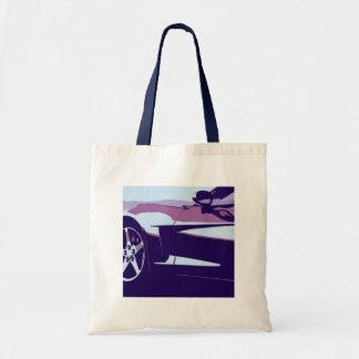 Purple Corvette Tote Bag