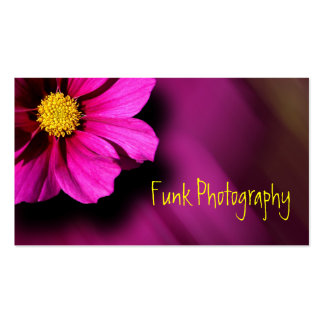 Purple Cosmo with Blurred Background Business Card