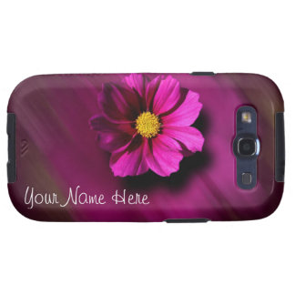 Purple Cosmo with Blurred Background Samsung Galaxy S3 Cases
