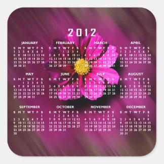 Purple Cosmo with Blurred Background Square Sticker