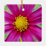 Purple Cosmos Flower Ceramic Ornament