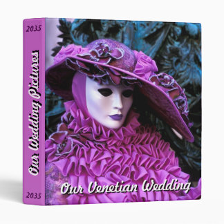 Purple Costume at the Carnival of Venice 3 Ring Binder
