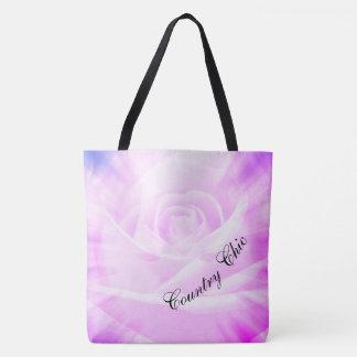 Purple Country chic design Tote Bag