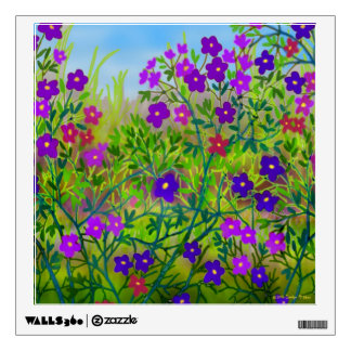 Purple Country Roadside Wild Flowers Wall Decal