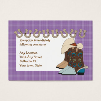 Purple Country Western Reception Cards