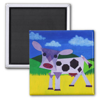 Purple Cow 2 Inch Square Magnet