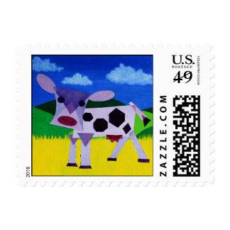 Purple Cow Art Postage