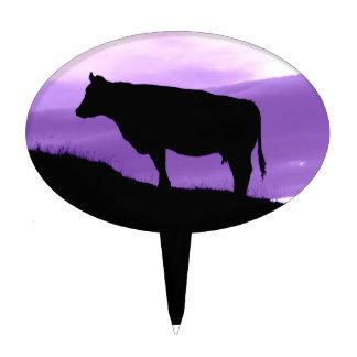 Purple Cow Cake Pick