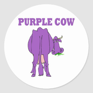 Purple Cow Classic Round Sticker