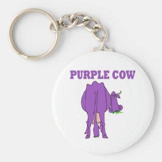 Purple Cow Keychain