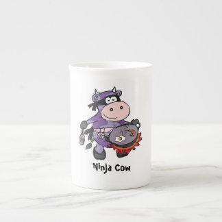 Purple cow mug porcelain mug