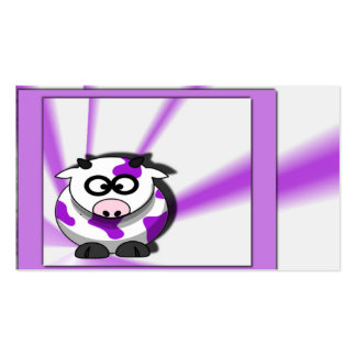 Purple Cow on Funky Purple Background Business Cards