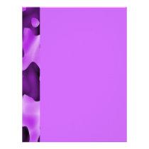 Purple Cow Pattern Letterhead