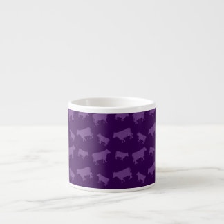 Purple cow pattern espresso mugs