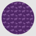 Purple cow pattern sticker